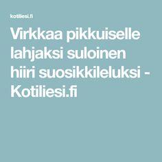 Virkkaa pikkuiselle lahjaksi suloinen hiiri suosikkileluksi - Kotiliesi.fi