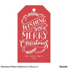 Christmas Wishes Collection Pack Of Gift Tags
