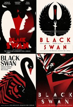 These Black Swan posters are gorgeous. Innovative, not boring, and so graceful. #design #movieposters