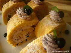 Az áfonya mámora: Áfonyahabos rolád French Toast, Breakfast, Food, Meal, Eten, Meals, Morning Breakfast