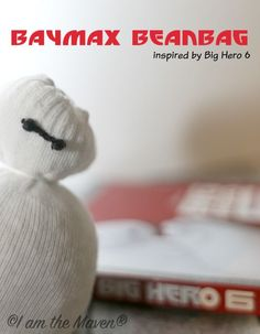 Make your very own BayMax Beanbag inspired by Big Hero 6! It's easy! #BigHero6MovieNight #ad