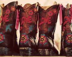 Painted boots.  Round Top, Texas - Fall 2009 by keelymarie, via Flickr
