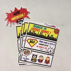 {Free printable} L'invitation Avengers et étiquettes pour enveloppes! Momale Blog Printable Invitations, Printables, Minion, Avengers, Free, Blog, Party, Partying Hard, Envelopes