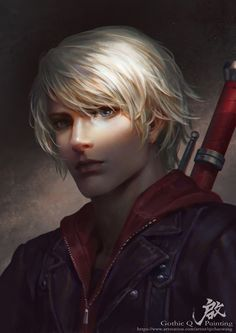 Nero by GothicQ on DeviantArt Fantasy Male, Dark Fantasy, Dnd Characters, Fantasy Characters, Gakuen Handsome, Character Portraits, Character Art, Nero Dmc, Davil May Cry