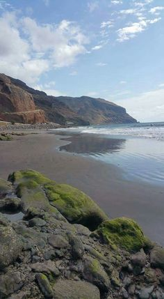 Playa de Las Gaviotas nudista , Santa Cruz de Tenerife,  Islas Canarias,  Spain