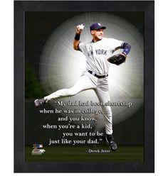 New York Yankees Derek Jeter Photofile 8x10 Framed Pro Quote