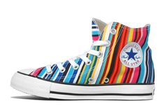 Chuck Taylor Converse Shoes Colorful | rainbow is a form of multicolored that is dispersing water droplets ...