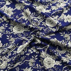 Viscose Amelia Royal Blue Fabric - Cotton Reel Studio