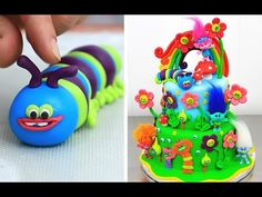 Hi! Today I bring you a Trolls cake idea. A two tier fondant cake decorated with Trolls toys. Enjoy! ****************More cakes for kids***************** Min...