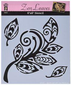 Hot Off The Press 10 pochoirs 15 cm ZEN feuilles 10 x 15 cm: Amazon.fr: Cuisine…