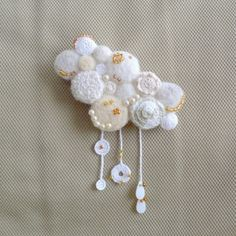 crochet & felt brooch