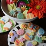 Decorated sugar cookies....aren't those eggs with duck feet darling?!