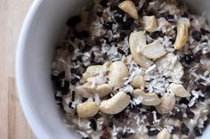 Superfood Oatmeal made with coconut, cacao, and cashews. A delicious, healthy, and vegan recipe that will brighten up your day!