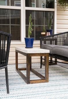 43 best outdoor coffee tables images in 2016 cement concrete rh pinterest com