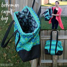 Friday Spotlight: Stephanie's Bohemian Carpet Bag — SewCanShe | Free Daily Sewing Tutorials