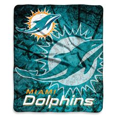 04aa8cd02 Miami Dolphins Raschel Throw - Bed Bath   Beyond Nfl Miami Dolphins