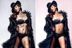 Los antes y después de 10 celebridades con y sin photoshop que te harán amar tu cuerpo