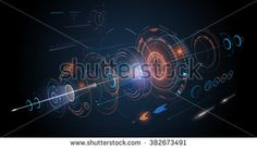 Abstract futuristic design background - stock vector