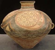 """Neolithic Yangshao Painted Terracotta Vessel - lo.1246 Origin: China Circa: 2500 BC to 2000 BC Dimensions: 15"""" (38.1cm) high Collection: Chinese Medium: Painted Terracotta"""
