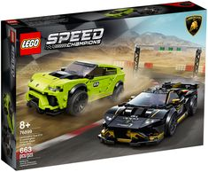 Last month, LEGO announced a brand new 2020 LEGO Speed Champions set with the Lamborghini Huracán Super Trofeo EVO & Urus ST-X and there are now official images of it on their servers. Lamborghini Veneno, Lamborghini Models, Maserati, Ferrari F40, Bugatti, Lego Cars, Lego Auto, Race Cars, Lucha Libre