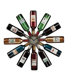 Another great find on #zulily! Wine Bottle Clock by Elk Group #zulilyfinds