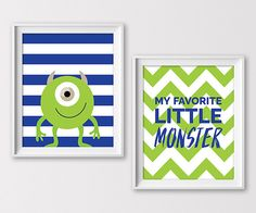 Monster Nursery Prints Monsters Monster Wall by ClaresPrintables Monsters Inc Bedroom, Monsters Inc Baby, Disney Monsters, Disney Themed Nursery, Baby Boy Nursery Themes, Baby Boy Nurseries, Nursery Ideas, Bedroom Ideas, Theme Bedrooms