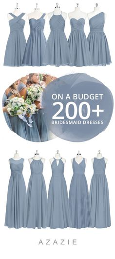 Dress your bridesmaid in this romantic soft blue! Available in sizes 0-30 and free custom sizing! Every woman deserves their dream dress, that fits right while still being budget friendly!