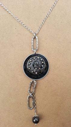 Collier capsule Nespresso recyclée Noire