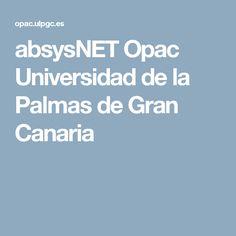 absysNET Opac Universidad de la Palmas de Gran Canaria