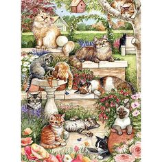 Feline Afternoon 300 Large Piece Jigsaw Puzzle