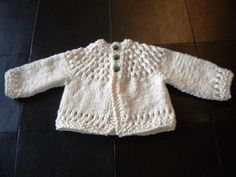 The Createry Shop: Beautiful Baby Cardigan - Free Knitting Pattern