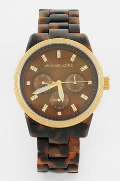 Michael Kors Watches Tortoise Link Watch $195 at www.tobi.com