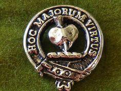 Vintage Clan Logan MacLennan Scottish Crest Lapel Pin