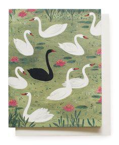the black swan. Bird Illustration, Pattern Illustration, Swans, Black Swan, Pink Black, Bird Art, Becca, Bunt, Illustrations Posters