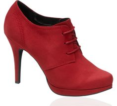 I have wanted a pair of red booties since I saw Emily Blunt wearing them in Wild Target, love these...