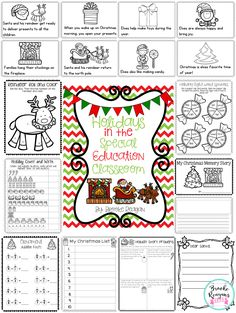 Holidays in the special education classroom! This is full of engaging math, reading and writing activities. Perfect for your special education classroom!