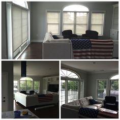 Before and After Roller Shades