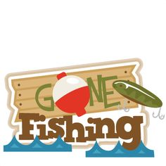 Gone Fishing Title SVG scrapbook title fishing svg cut files free svgs free svg cuts for cricut silhouette pazzles Gone Fishing Sign, Fishing Signs, Go Camping, Outdoor Camping, Camping Outdoors, Camping Lunches, Fish Silhouette, Silhouette Files, Silhouette Cameo