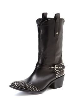 Studded Cowboy Boot by Cesare Paciotti at Gilt