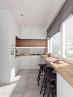Inspiring modern Scandinavian kitchen design ideas Minimalist White Kitchen Smart Ways To Make The Most of a Small Kitchen Ideas Home Decor Kitchen, New Kitchen, Kitchen Ideas, Kitchen Wood, Kitchen White, Kitchen Furniture, Kitchen Inspiration, Awesome Kitchen, Apartment Kitchen