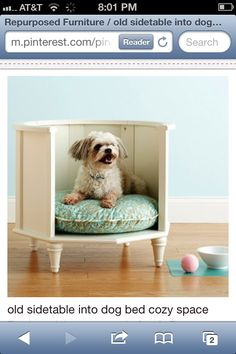 Side table-dog bed