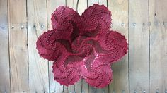 Spiral Ceramic Lace Centerpiece Flower Rosy Pink by SilverMirth