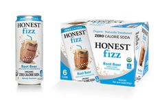 Honest Fizz PACKAGE DESIGN - single can and six-cans pack - The Dieline (a blog)