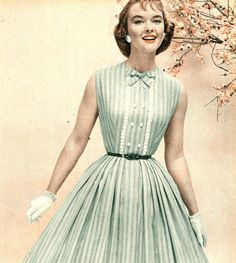 Fashion History - Women's Clothing of the 1950's - When women pulled on pants to work in the factories during World War II, they discovered a new kind of freedom and comfort. Description from pinterest.com. I searched for this on bing.com/images