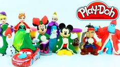 Play Doh Christmas Dress for Disney Character Mickey Mouse Frozen Princess Cars Lightning McQueen.