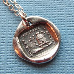 Beehive Wax Seal Necklace - No One Penetrates My Secrets - Honey Bee Hive antique French motto wax seal jewelry by ShannonWestmeyer on Etsy https://www.etsy.com/ca/listing/77991678/beehive-wax-seal-necklace-no-one