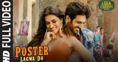 """Presenting the full video song """"Poster Lagwa Do"""" with from the bollywood movie """"Luka Chuppi"""". The Movie features Kartik Aaryan, Kriti Sanon along with Pankaj. Hindi Movie Song, Movie Songs, Hit Songs, Lyrics Website, Mika Singh, Latest Song Lyrics, Latest Hindi Movies, Net Flix, Song Status"""