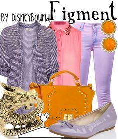 Your imagination will run wild in this Figment outfit   Disney Fashion   Disney Fashion Outfits   Disney Outfits   Disney Outfits Ideas   Disneybound Outfits   Disney World Outfit  
