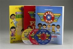 Safety Kids Set. Vol 1: Personal Safety. Vol 2: Stay away from drugs. Vol. 3: Keep our minds clean and safe