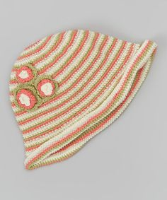 Take a look at this Peach Cobbler Stripe Flower Crocheted Sunhat on zulily today!